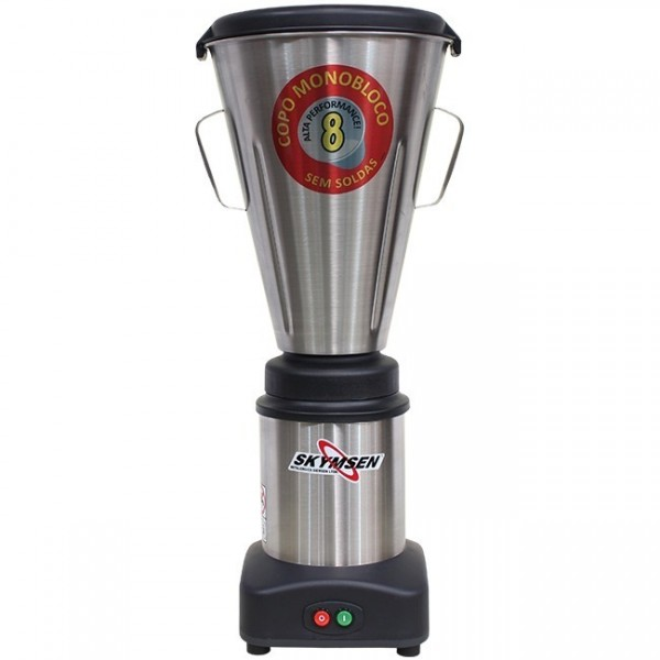 Liquidificador Industrial baixa rotação LS8 litros Inox Skymsen