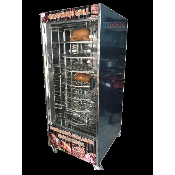 Assador multiuso giratório para 100kg de carne