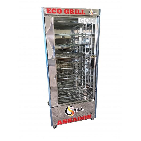Forno Multiuso para 120 Kg de Carne com 7 Grelhas Giratórias Super Grill