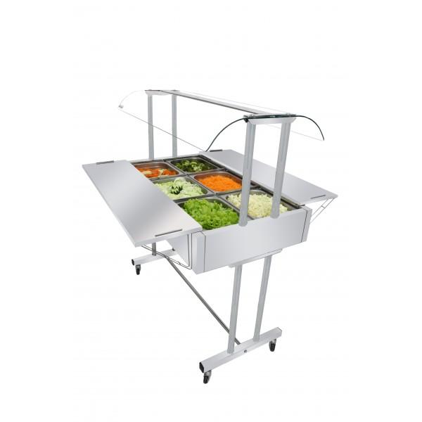 Buffet Salada com 8 cubas EA8MX Master Venancio