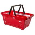 Cesta com alça plástica Azul/ Vermelha/ Verde/ Preta S600 Plasticomm