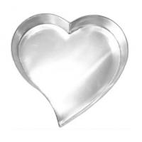 Forma artística em formato de coração grande 33,5x7cm Doupan