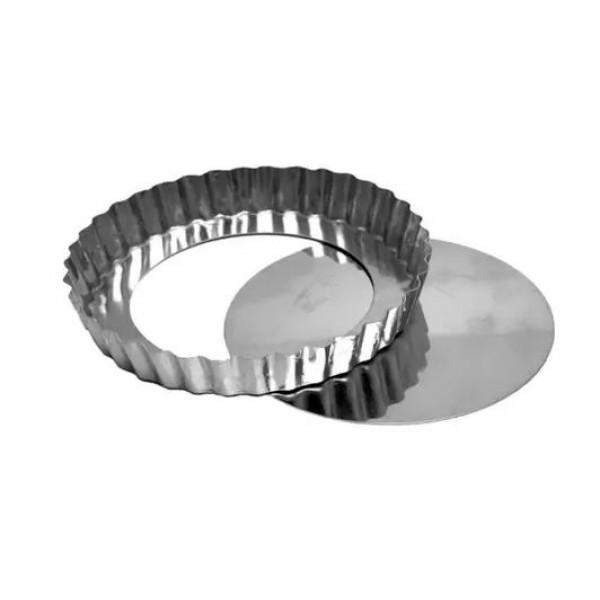 Forma para Torta de Maça com Fundo Falso Alumínio 17x2cm Doupan