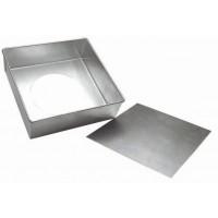 Forma Quadrada com Fundo Falso Alumínio 15,5x10cm R1423 Doupan