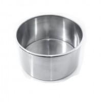 Forma Redonda com Fundo Falso Alumínio 15x10cm R1701 Doupan