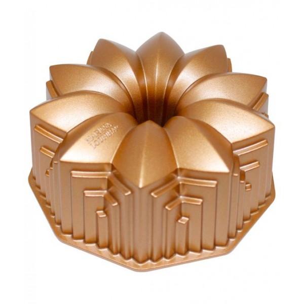 Forma para bolo em alumínio fundido bronze Deco Marissa Lounina