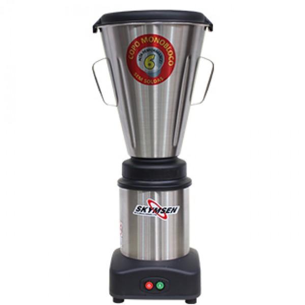 Liquidificador Industrial Baixa Rotação 6 Litros Inox LS-06-MB-N Skymsen