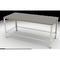 Mesa com Tampo Inox Contraventada 190 x 80 x 87 cm MBR-018 G2 Braesi
