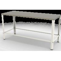 Mesa com Tampo Inox Contraventada 160 x 60 x 87 cm MBR-015 G2 Braesi