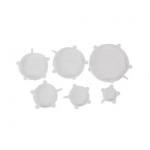 Conjunto com 6 tampas herméticas ajustáveis de silicone