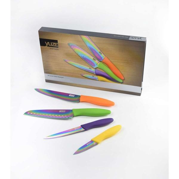 Kit de facas Titanium Yuze